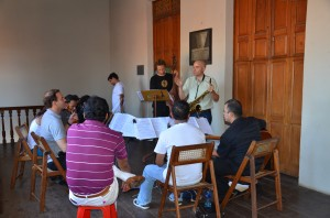 Rulon working with faculty of Casa de los Tres Mundos in Granada, Nicaragua.