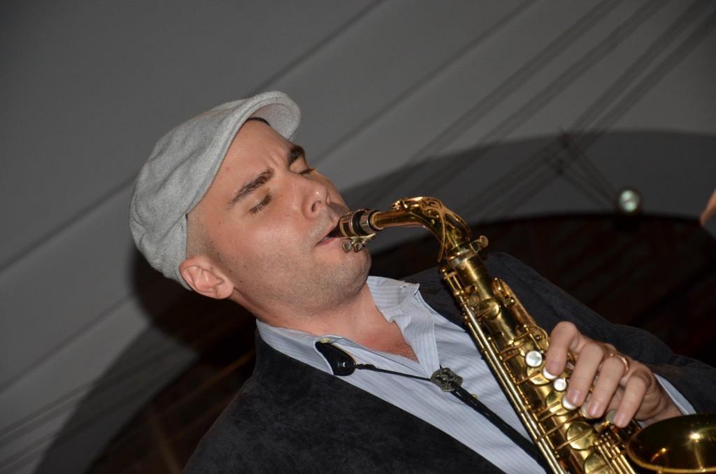 In concert at Casa Tres Mundos in Granada, Nicaragua, January 2012.