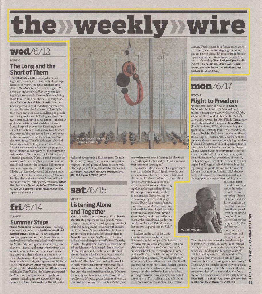 Seattle Weekly review 6-12-13
