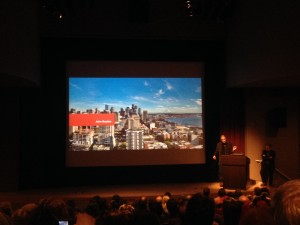 John Boylan announcing Microsoft Gigapixel Artzoom at Seattle Art Museum